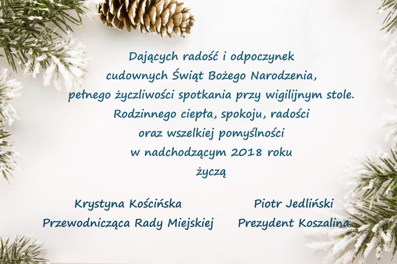 zyczenia boze narodzenie 2018 Święta Bożego Narodzenia 2018   życzenia Prezydenta Miasta  zyczenia boze narodzenie 2018