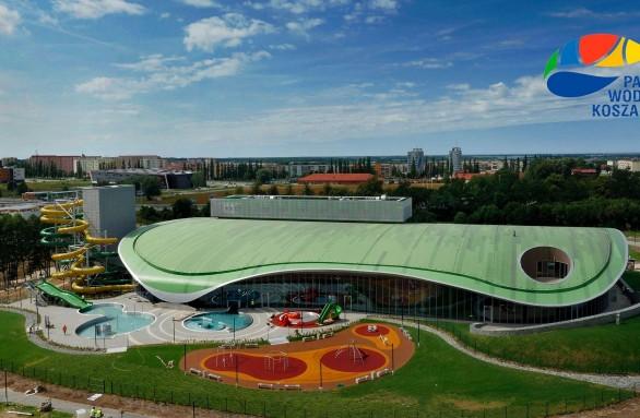 Widok na koszaliński aquapark