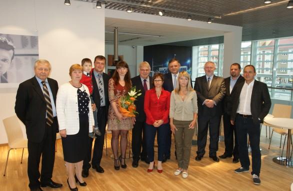 Polacy z Ukrainy z prezydentem Jedlińskim i przedstawicielami firm, które ich wsparły