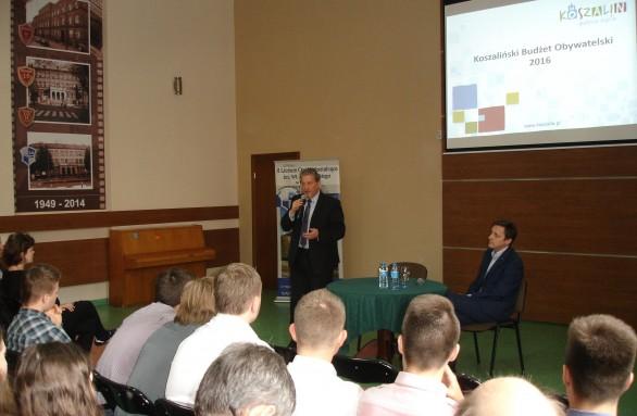 Spotkanie z młodzieżą II LO w sprawie koszalińskiego Budżetu Obywatelskiego