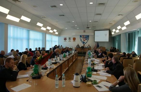 Obrady sesji Rady Miejskiej