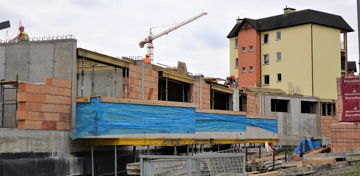 Na zdjęciu budowa nowego budynku TBS w Koszalinie.