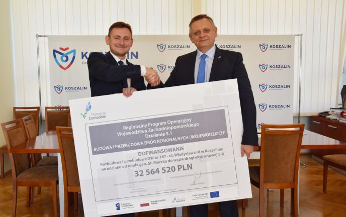 Ponad 32 mln zł dla Koszalina