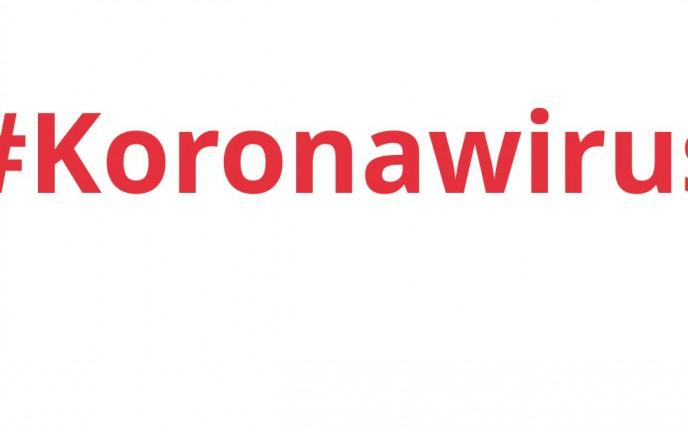 "Na zdjęciu napis ""Koronawirus"""