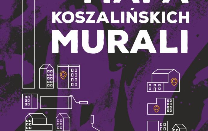 Plakat akcji Mapa Koszalińskich Murali